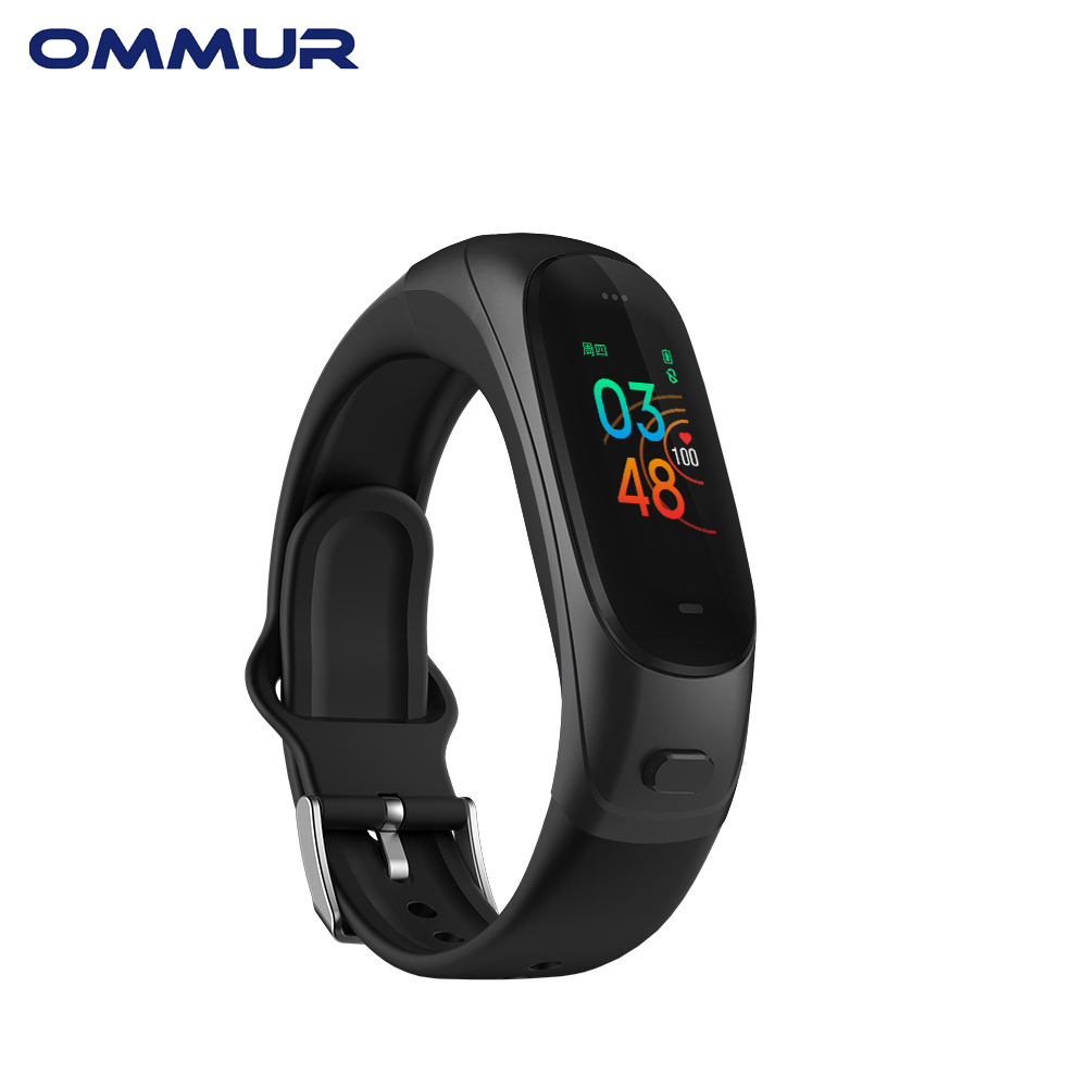 OMMUR V08PRO Bluetooth headset with Smartwacth <font><b>2</b></font> in <font><b>1</b></font> siri assistant heart rate sleep monitoring multi-language Activity tracke image