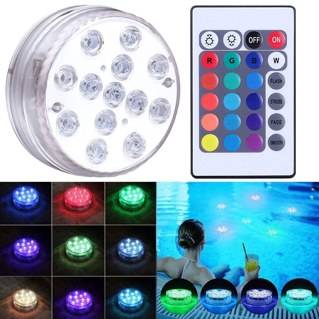 Цветная (RGB) погружной светильник подводный светодиодный Ночной светильник 13 светодиодный плавательный бассейн светильник для напольная в...
