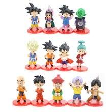 Figurine Dragon Ball Z, jouet Super Action, Son rose et bleu, Goku, Gohan, Vegeta, Hitto Jiren, coffre du Grand prêtre, 13 pièces/16/18 pièces