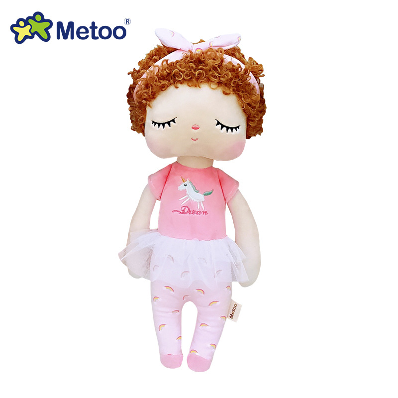 34cm Metoo Puppe Stofftiere Plüsch Tiere Kinder Spielzeug für Mädchen Kinder Jungen Baby Plüsch Spielzeug Cartoon Angela Kaninchen weiche Spielzeug