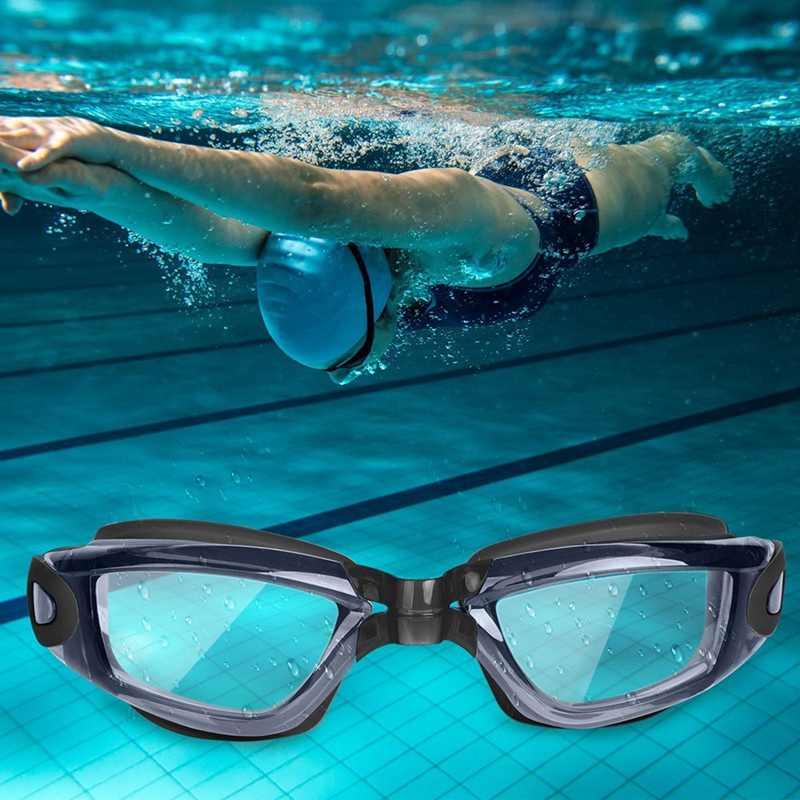 Yüzmek Gözlük, hiçbir Sızıntı Anti Sis Uv Koruma yüzme gözlükleri Erkekler Kadınlar Için Yetişkin Gençlik Çocuklar (6 Yaşında)