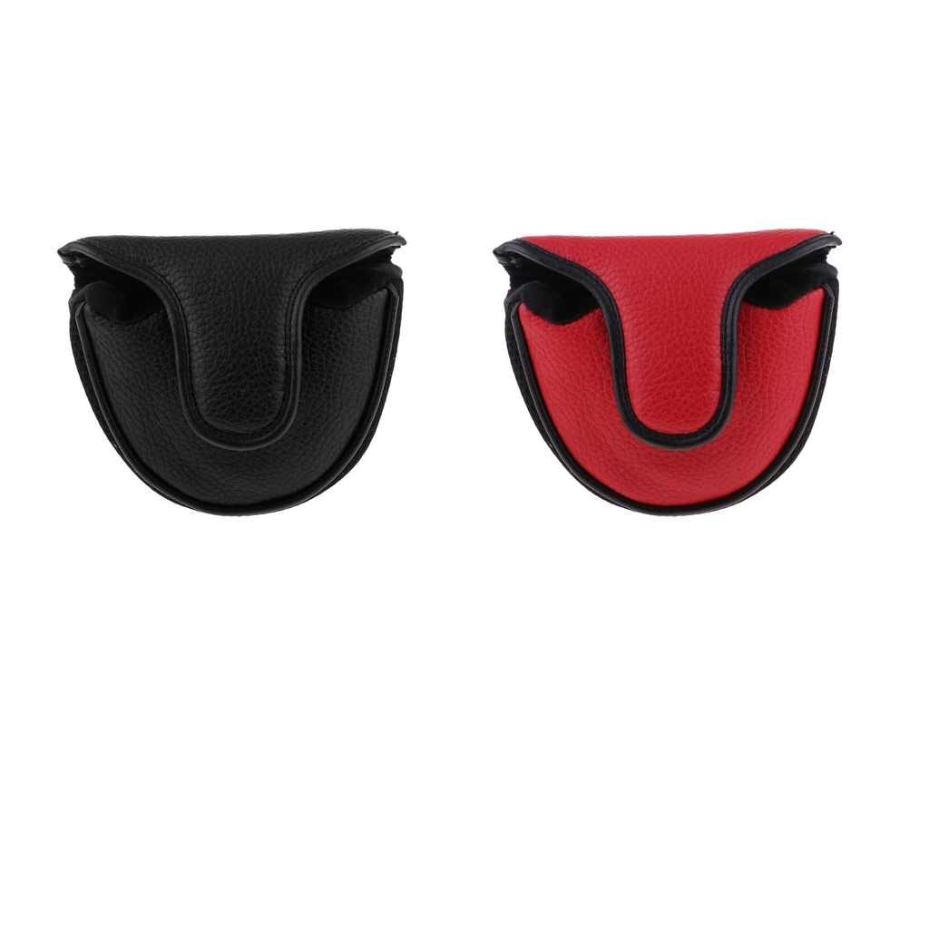 Soft Comfortable PU Golf Mallet Head Cover Club Protector Putter Cover Golf Accessories Red Or Black