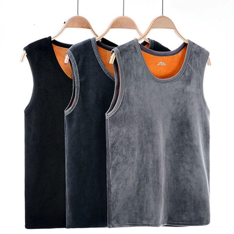 Warm Vest For Man Keep Warm Underwear Men Vest Men's Winter Thermo Shaping Large Size Male Vest Comfortable With Velvet #htyus