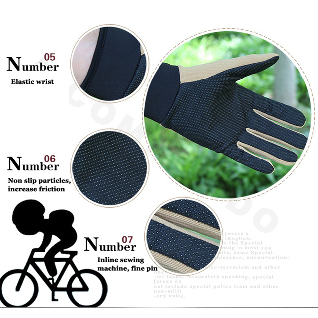 Summer Man Tactical Gloves Lightweight Breathable Riding Gloves Bicycle Non-slip Full Finger Half Finger Gloves Fishing 4