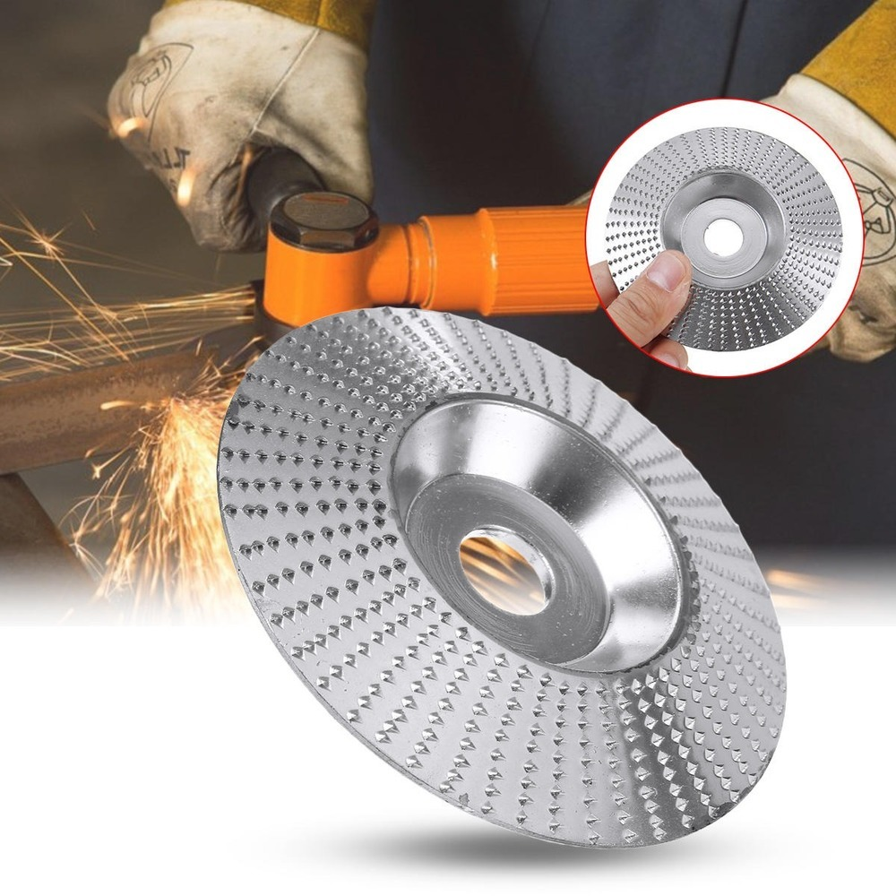 JUSTINLAU Oblique 100x16mm Angle Grinder Carving Disc Wood Grinding Wheel Sanding Abrasive Disc Woodworking Tools