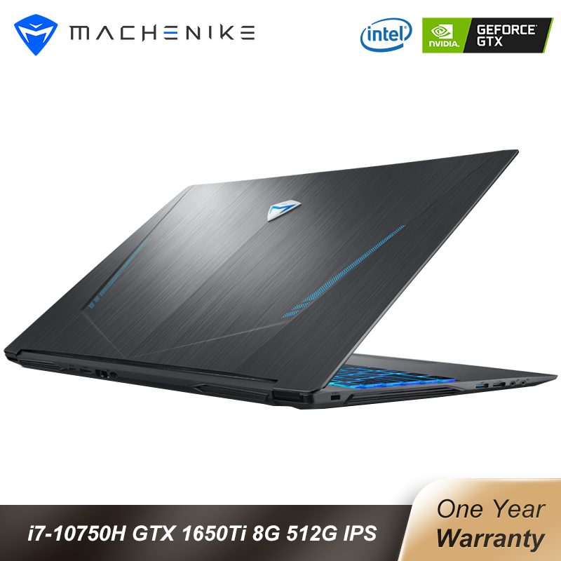 Machenike T58-VB i7 Gaming Laptop 2020 i7 10750H GTX 1650Ti 8GB RAM 512G SSD 15 6   Ultra border IPS i7 notebook Metal A shell