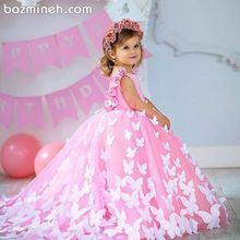 Butterfly Baby Girls Birthday Party Dresses Pink Dresses Wit