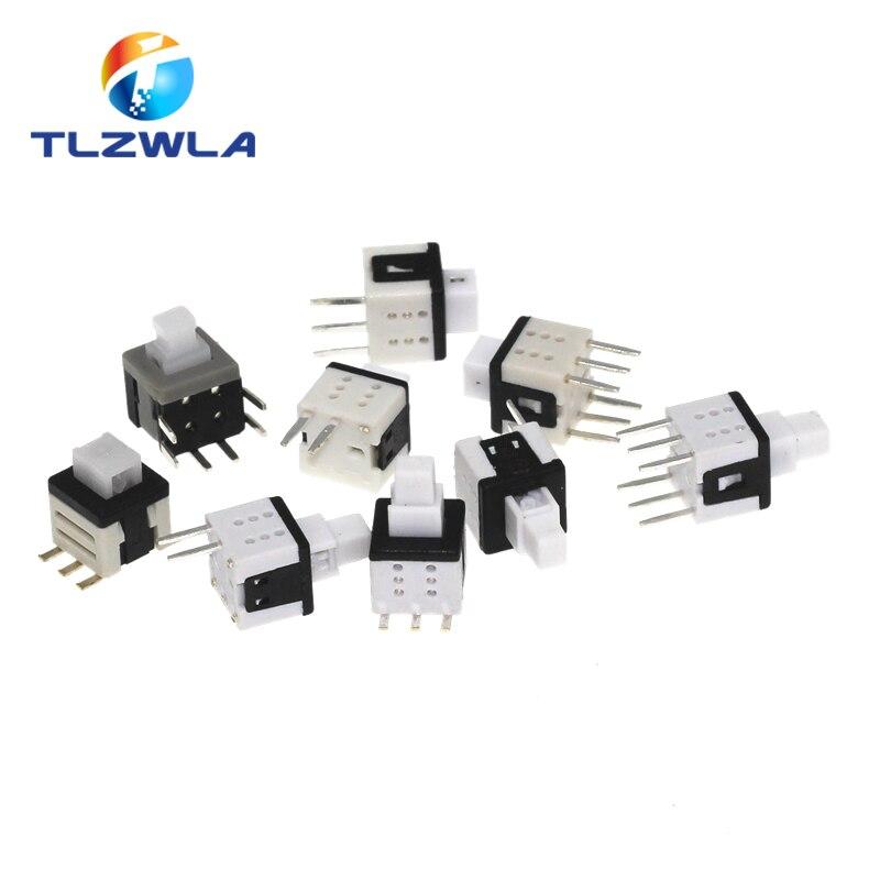 10 adet 5.8*5.8mm kendinden kilitleme itme dokunsal güç mikro anahtarı kiti 2 3 6 pinli düğme anahtarları 5.8x5.8