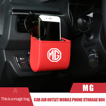 Auto Outlet Air Vent Storage Box for MG Logo MG Logo Trophy MG3 MG5 TF ZR ZS GS GT HS MG6 MG7 Morris Garage Car Accessories
