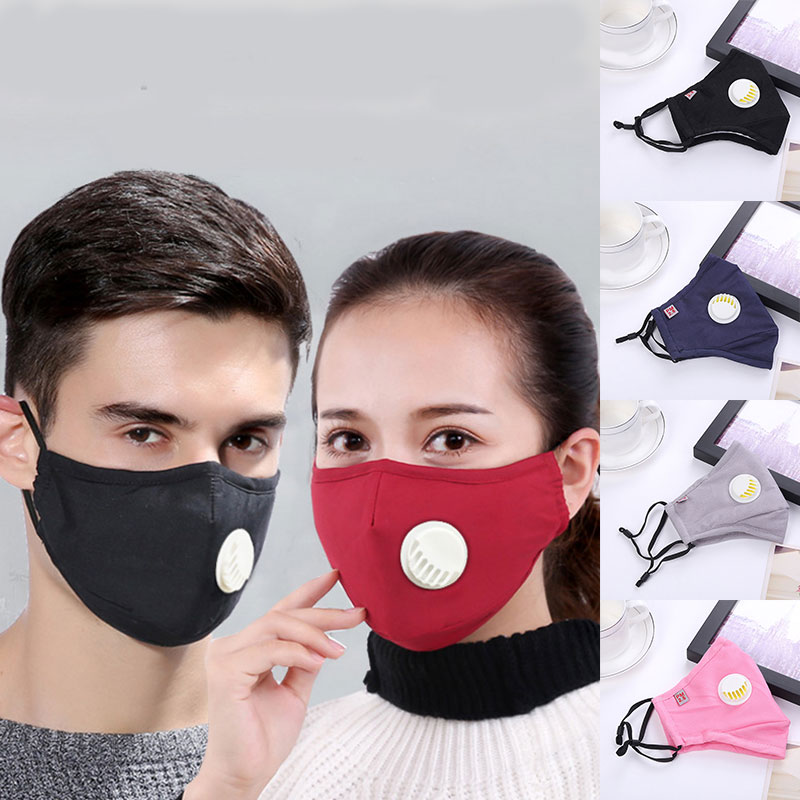 Anti Pollution PM2.5 Mask Dust Respirator Washable Reusable Masks Cotton Unisex Mouth Muffle Allergy/Asthma/Travel/ Cycling Hot