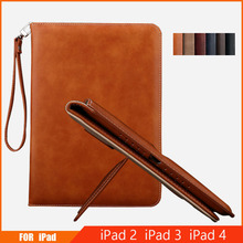 Case For iPad 2 3 4 Cover Flip Auto Sleep/Wake Up Stand Wallet Card Holder Leather Cover Case For Apple iPad 10.1 Inch wefor cover silicon leather case for apple ipad air 2 flip book style stand with card holder for ipad air2 wallet [painting]