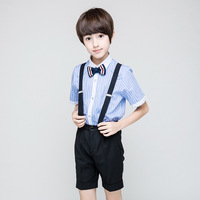 Summer Boys Suit 4pcs Clothing Set Elementary School Boys Formal Costume 4 6 8 10 12 14 Year Boutique Kids Clothing RKS194005