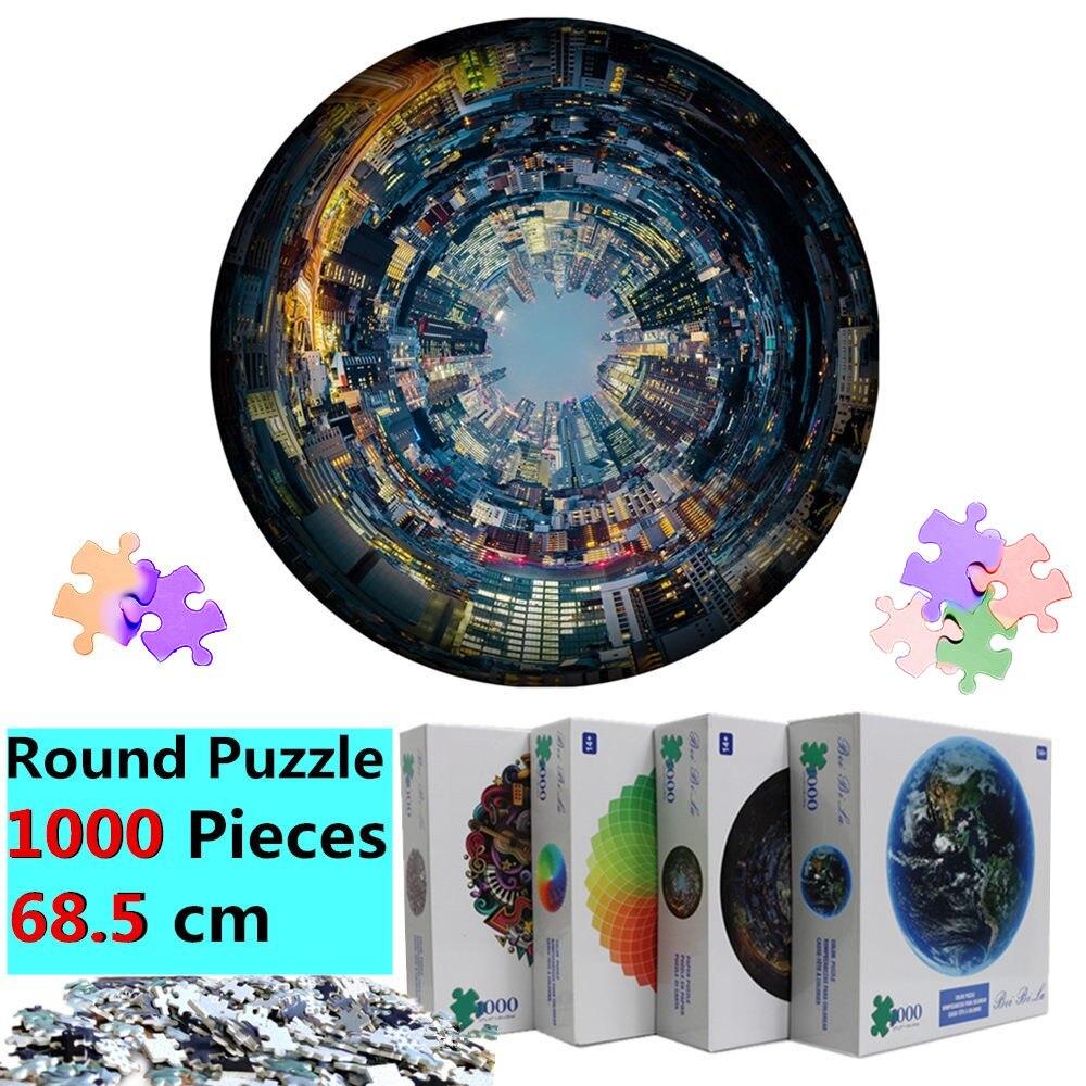 Earth Puzzle, 1000 штук, для взрослых, большие, 68,5*68,5 см, пазлы с Луной, высокая сложность, круглые пазлы, Planet Puzzle, для взрослых и детей, подарок
