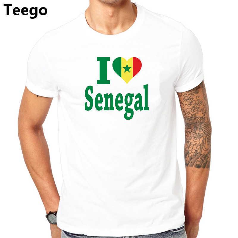 2017 Летняя мода I Love Senegal попугаи Футболка 100% хлопок Мужская хип-хоп короткий рукав круглый вырез уличная одежда