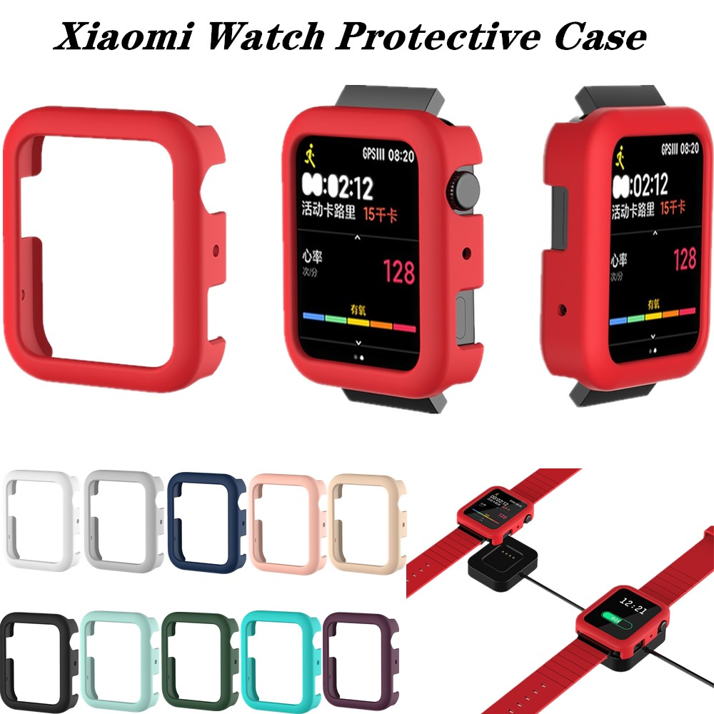 Protector Case For Xiaomi Watch Sports Silicone Protective Cover Anti-collision Bumper For MI Smart Watch Series Accessories