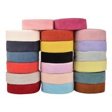 """HSDRibbon 3"""" 75mm colorful Double Face Corduroy Fabric Ribbon 25Yards/Roll"""