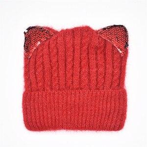Image 5 - Neue Winter Hut Und Winter kinder Hut Für Kinder Warme Mütze Und Snood Für Mädchen Jungen Kinder Hut Leucht katze ohren