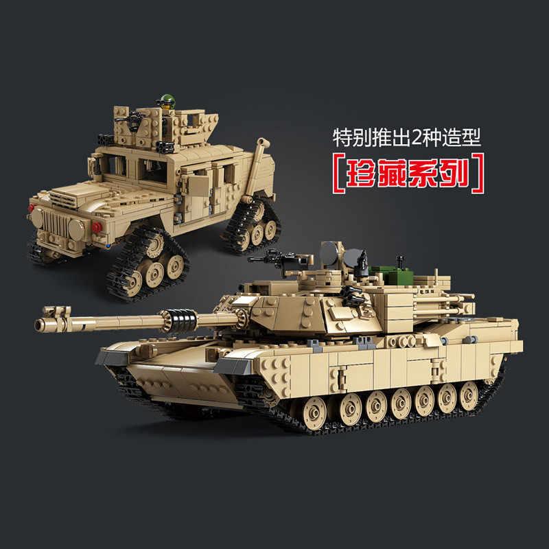 مجموعة مكعبات البناء تكنيك ماركة كازي M1A2 ماركة هامر متوافق مع مكعبات البناء لألعاب الأطفال نموذج مكعبات الدبابات Legaolys هدايا اللعب