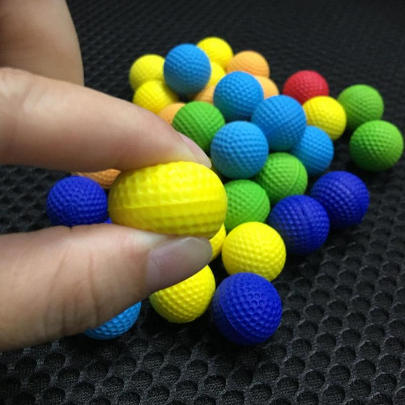 100pcs Foam Ball Bullets For For Rival Nerf Toy Gun Outdoor Practice Round Bullets For Children Toy Gun Accessories Dropship