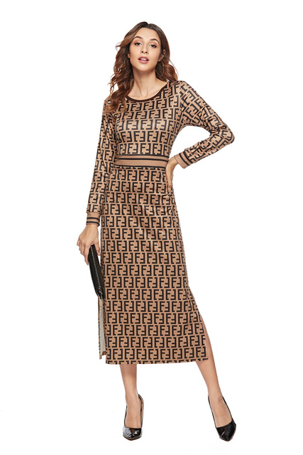 SKYYUE new pattern women print dress sleeve female casual straight dresses chic Mid-Calf length vestidos party dress  plus size 5