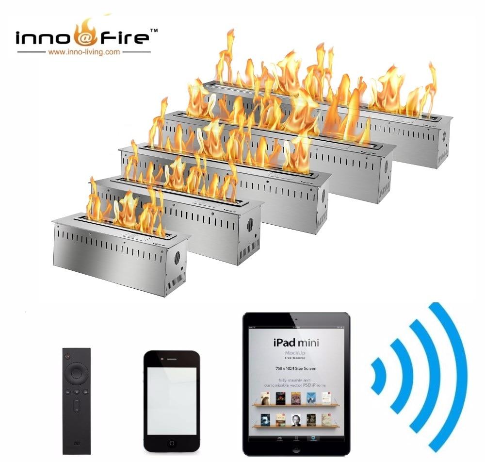 Inno Livinfg Fire 48 Inch Modern Electric Fireplace Insert Bioethanol