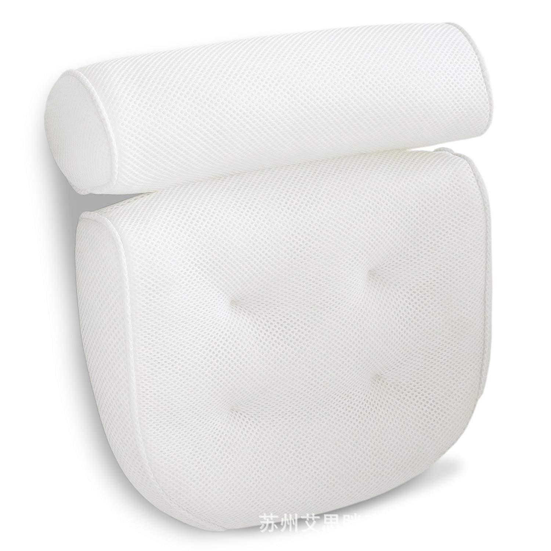 PANPANDA 3D Screen Cloth Bath Pillow with Suckers Spa Bath Pillow