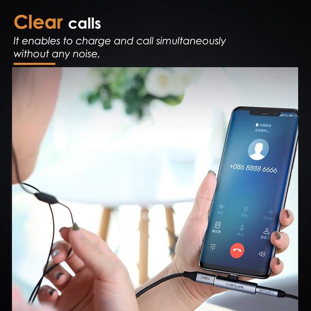 CABLETIME USB Type C to Audio 3.5mm Jack Earphone Headphone Analog signal For Xiao mi Huawei Samsung Type-C OTG USB-C OTG C018 3