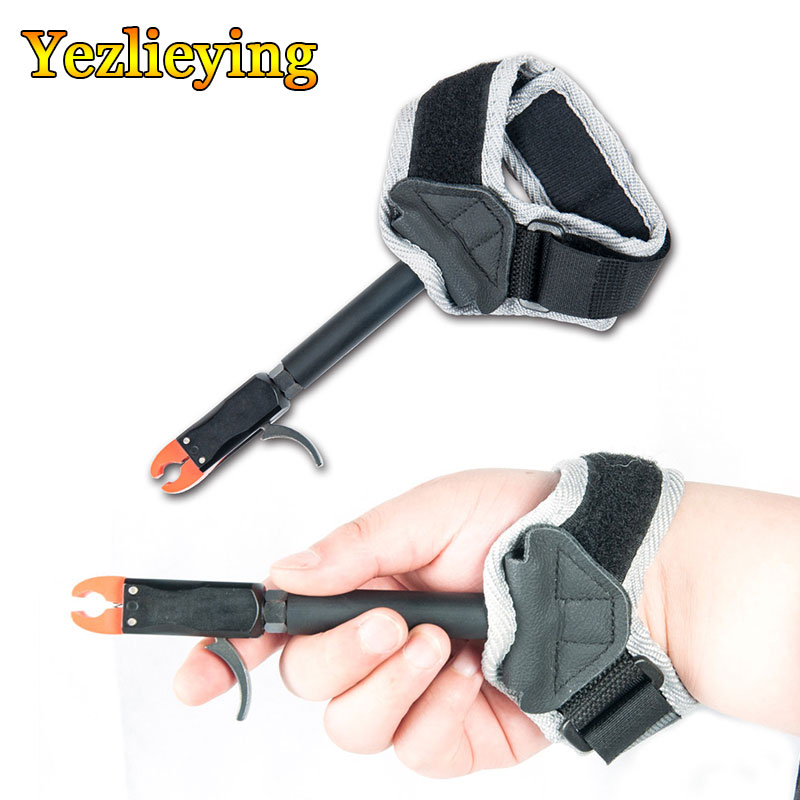 TP412 Bow Releases With Adjustable Strap For Arrow Shooting Practice W/Trigger Wrist Strap Steel Calip