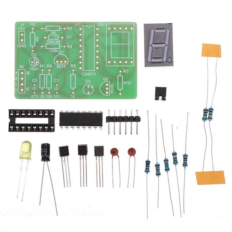 DIY Digital Display LED Logic Pen Electronic Kit High And Low Level Test Circuit Soldering Practice Board Kit