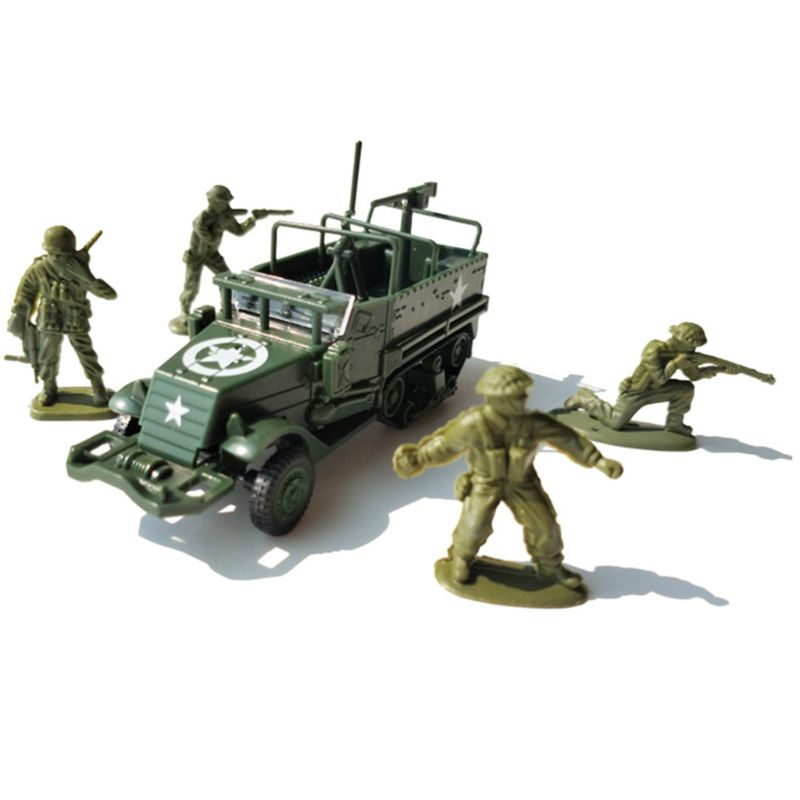 1:72 M3 Half Track Armored Vehicle Assembly Military Model Toy Car Kids Gift