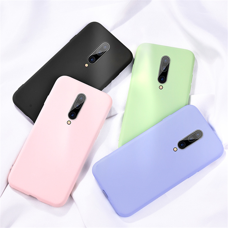 Liquid Silicone <font><b>Bumper</b></font> For <font><b>Oneplus</b></font> 8 Pro 7 7T 6 <font><b>6T</b></font> 5 5T Pro <font><b>Case</b></font> Luxury Original Soft Slim Smooth Phone Cover For <font><b>Oneplus</b></font> 8 Pro image