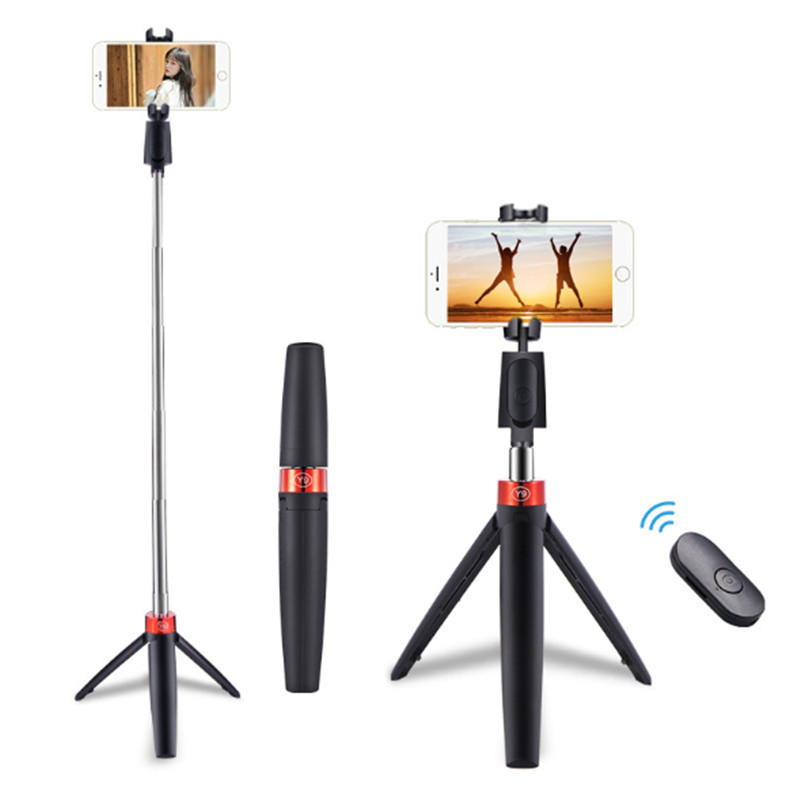 2020 Newest  3 in 1 Wireless Bluetooth Selfie Stick Mini Portable Mobile Phone Tripod Foldable Selfie Stick Bluetooth Remote