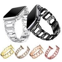 Bracciale gioielli donna per cinturino Apple Watch 38mm 40mm 42mm 44mm cinturino iWatch in acciaio inossidabile serie 1 2 3 4 5 6 SE