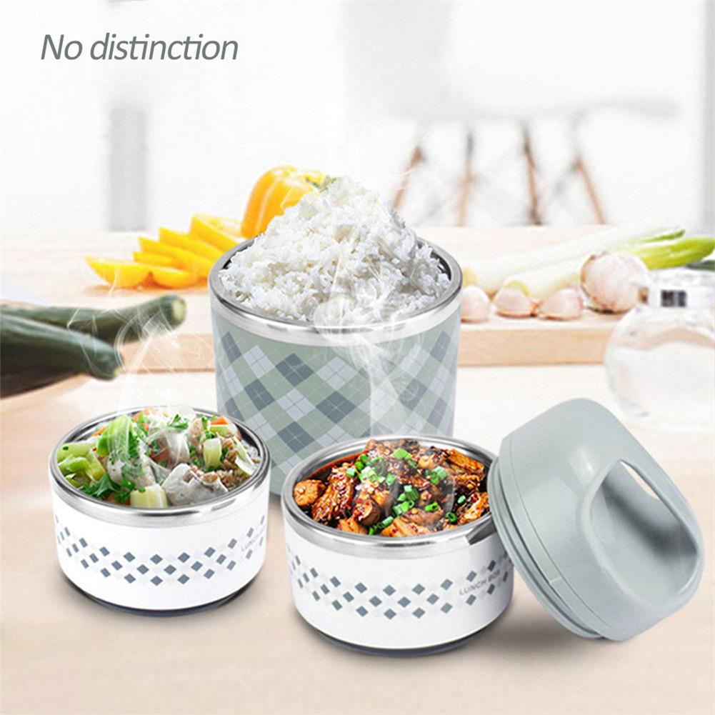 Portable stainless steel insulated <font><b>lunch</b></font> <font><b>box</b></font> office leakproof thermos <font><b>lunch</b></font> <font><b>box</b></font> <font><b>food</b></font> <font><b>container</b></font> 630 ml / 960 ml / 1230 ml image