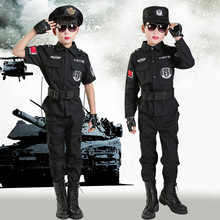 Field Special Army Police Uniform Clothing Boys Policemen Costumes Children CosplaySet Long Sleeve Fighting Performance Uniforms kryptek mandrake frog fighting suit police frog uniforms army trainning uniform set one long sleeve shirt and one tactical pant