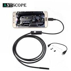 Antscope 7 мм/5,5 мм 1 м Mirco USB эндоскоп 2 м 6LED эндоскоп камера Android водонепроницаемый трубопровод PCB PC инспекционная мини-камера