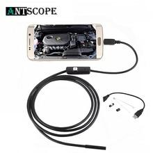 Antscope 7 ミリメートル/5.5 ミリメートル 1 メートルミルコ usb 内視鏡 2 メートル 6LED 内視鏡カメラアンドロイド防水パイプライン pcb pc 検査ミニカメラ