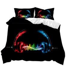 Capa de edredão colcha 3d impresso música série conjunto cama duplo gêmeo tamanho completo king size adulto folha roupa cama 3008