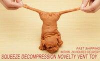 Novidade de descompressão de apertar, brinquedo de ventilação, deitado para baixo, cachorros, crianças, adultos, mole, antiestresse, bonecas, brinquedo de fidget