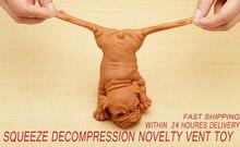 Quente! squeeze descompressão novidade respiradouro brinquedo deitado para baixo cão crianças adulto mole anti-stress bonecas liberação estresse brinquedo