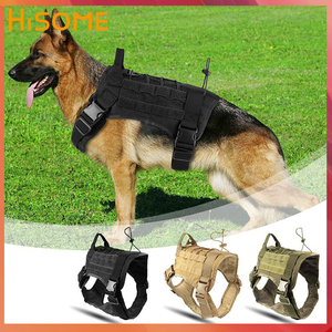 Image 1 - Military Dog Harness and Leash Set Durable Nylon Dog Training Vest Leash Lead for Medium Large Guard Guide Dogs Harness Vest