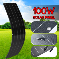 CLAITE 100W Solar Panel Battery Charger Solar Cell Kit Complete Portable Flexible Monocrystallin Camping Outdoor Car Yacht