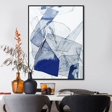 Get more info on the Abstract Art Modern Minimalism Poster Picture Canvas Painting Blue Print Wall Artist Living Modern Decoration Living Room