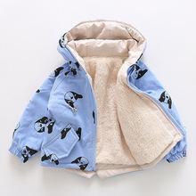 Odzież dla dzieci odzież wierzchnia dla niemowląt chłopcy odzież dla dzieci dziewczyny płaszcz zimowy wiatrówka ciepły płaszcz dziecięca kurtka puchowa z nadrukiem z kapturem tanie tanio YCXJ Włókno poliestrowe CASHMERE COTTON Dół Stretch Spandex Mikrofibra 400g CN (pochodzenie) Na co dzień Drukuj REGULAR