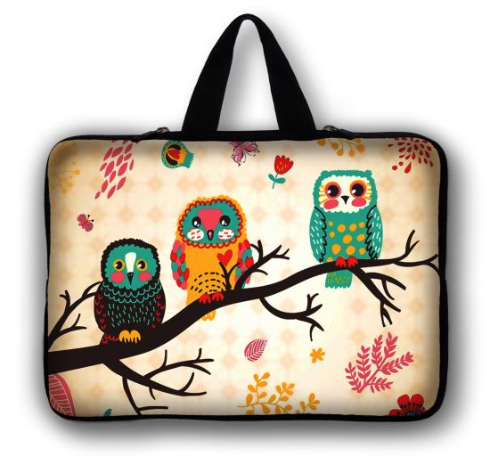 Night Owls 11.6 13.3 14 <font><b>15</b></font>.6 17 Laptop Sleeve Bag Pouch Case for Macbook Air Pro 13 <font><b>15</b></font> <font><b>Asus</b></font> Acer Dell Mac Case Accessories Women image