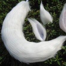 Japanese Anime Fox Tail and Ears Set Cosplay Props Kamisama Kiss Kamisama Hajimemashita Fox Ear Tail Plush Long Fur Neko Ears