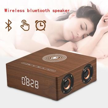 Q5A Multi-Function Wireless Charger Alarm Clock Bluetooth Speaker Suitable for iPhone Stereo Music Player Music Surround Sound