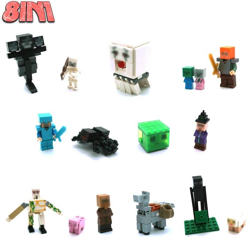 The Ghast Steve Zombie Minifigs Building Block Action Figures Compatible LegoINGlys Bricks Sets Toys For Children 2