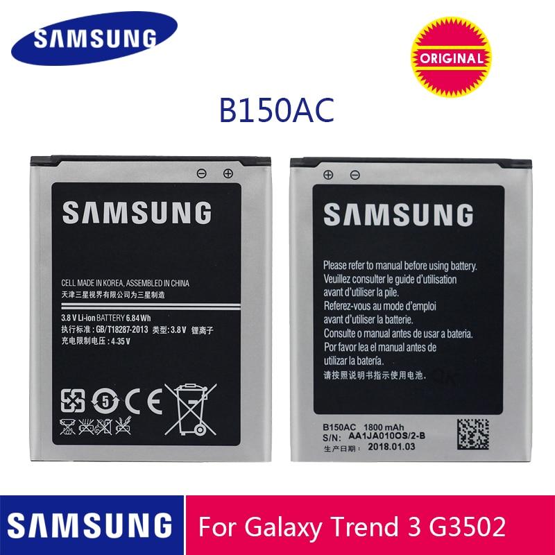 SAMSUNG Original Battery B150AE B150AC 1800mAh For Samsung Galaxy Core I8260 I8262 Galaxy Trend3 G3502 G3508 G3509 SM-G350E G350