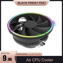 DarkFlash CPU refroidisseur dair 3Pin radiateur RGB 120mm refroidisseur CPU coque dordinateur de refroidissement pour LGA 1366/1156/1155/1150 AM4/AM3